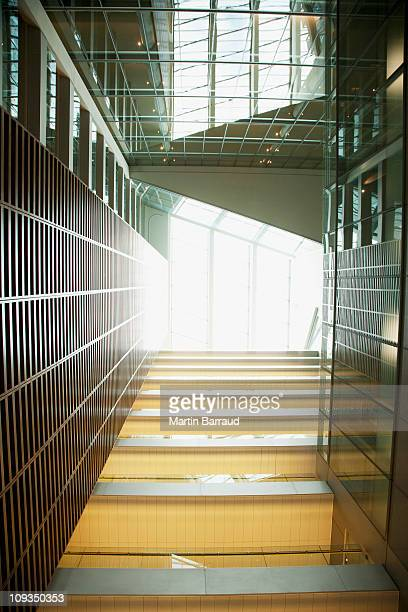 Atrium and walkways in modern office building