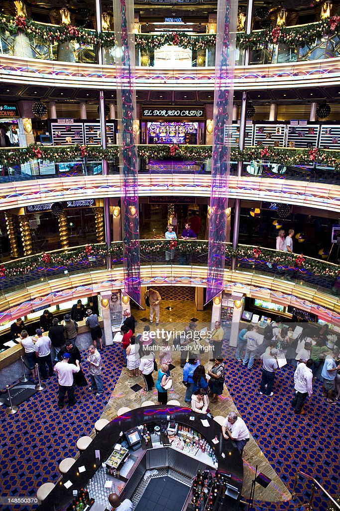 Atrium Casino In Carnival Cruise Line Ship High Res Stock Photo