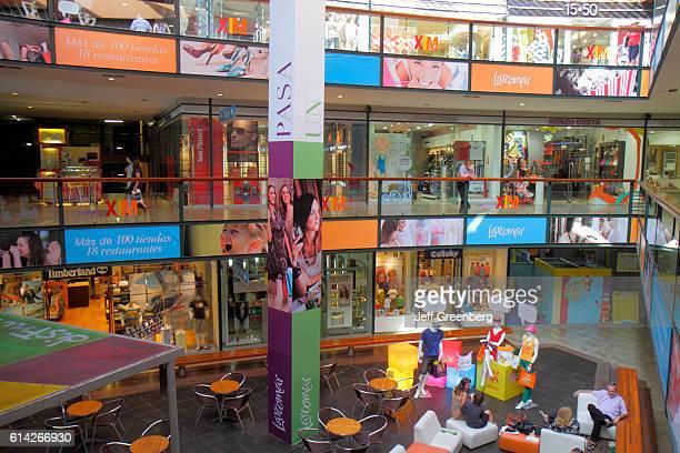 Atrium lounge inside the Larcomar shopping center