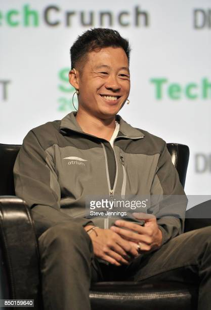 Atrium LTS Founder and CEO Justin Kan speaks onstage during TechCrunch Disrupt SF 2017 at Pier 48 on September 20 2017 in San Francisco California