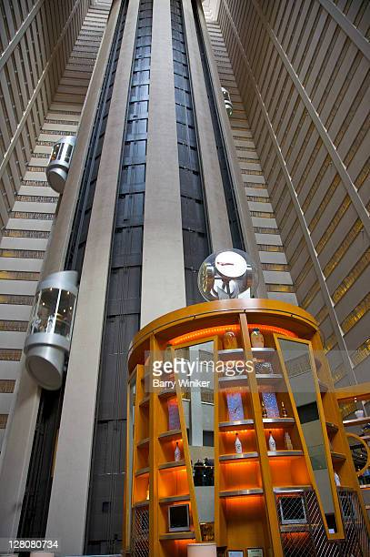 atrium, new york marriott marquis, midtown west, new york, ny, u.s.a. - 1985 stock pictures, royalty-free photos & images