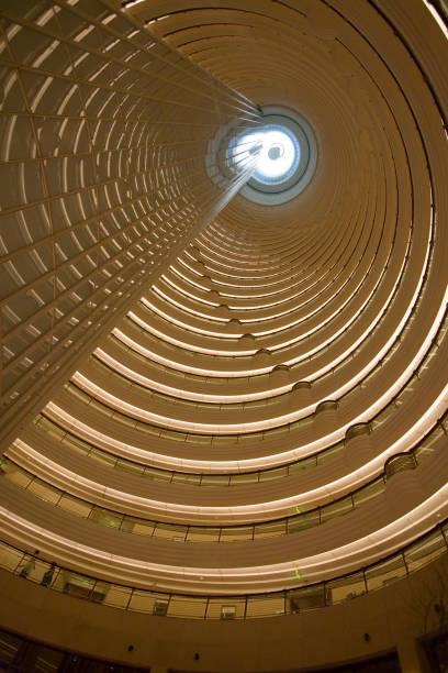 Atrium of Grand Hyatt from Patio Bar on the 56th floor, Pudong.