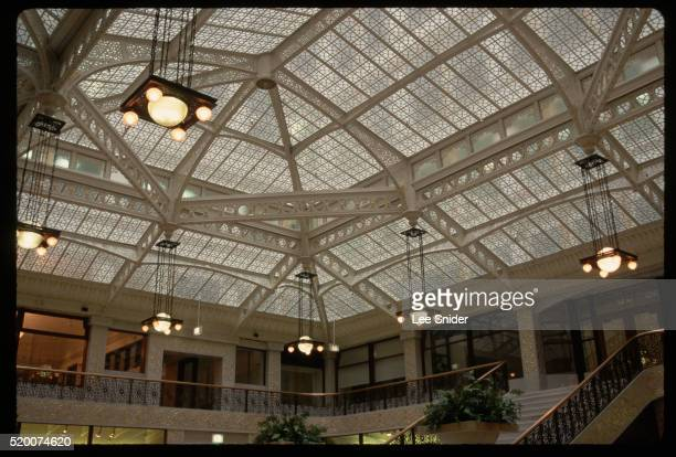 atrium of rookery building - rookery stock pictures, royalty-free photos & images