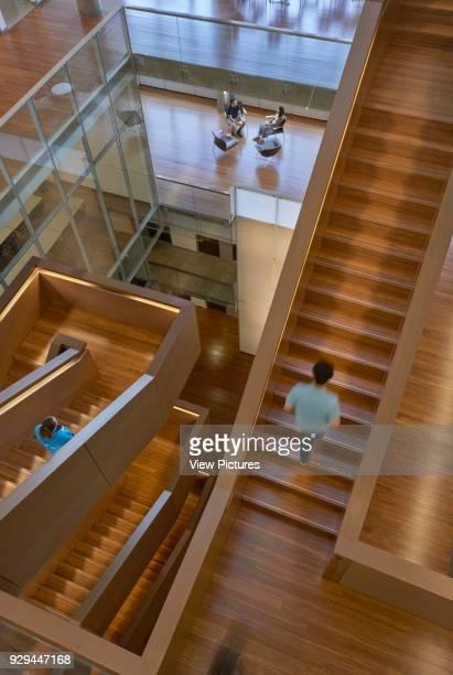 Atrium staircases The Quantum Nano Centre Waterloo Canada Architect Kuwabara Payne McKenna Bloomberg 2013
