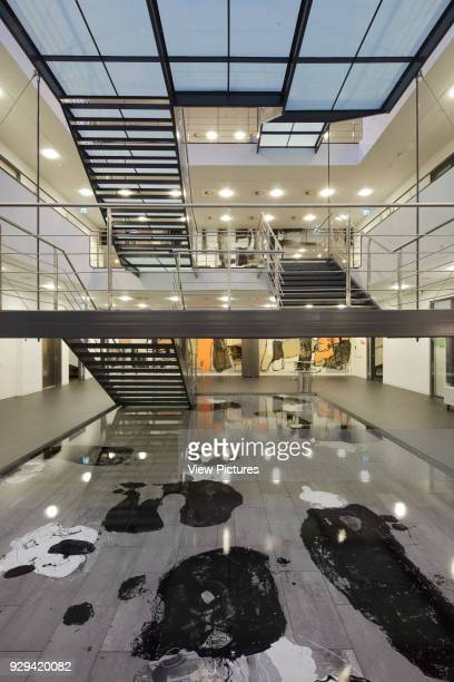 Atrium with water feature and main staircase seen from ground floor IBC Kolding Campus Kolding Denmark Architect schmidt hammer lassen architects 2006