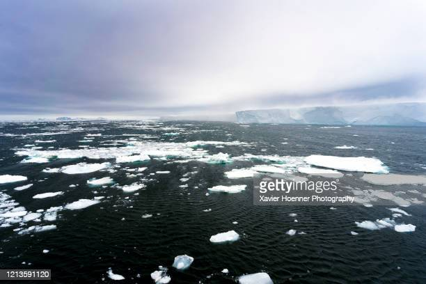 at-sea blizzard - ice floe stock pictures, royalty-free photos & images