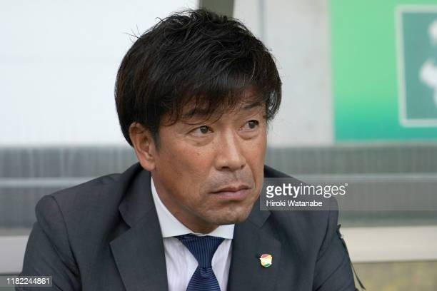 Atsuhiko Ejiri,coach of JEF United Chiba looks on prior to the J.League J2 match between JEF United Chiba and Kashiwa Reysol at Fujida Denshi Arena...