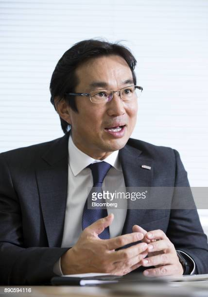 Atsuhiko Hirano chief executive officer of Solar Frontier KK speaks during an interview in Tokyo Japan on Wednesday Dec 6 2017 Solar Frontiera wholly...