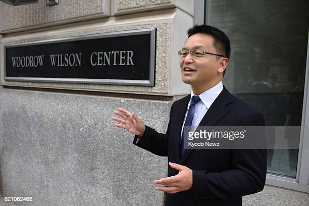 Atsuhito Isozaki a Keio University associate professor of North Korean politics speaks in an interview on Nov 1 at the Woodrow Wilson Center a think...