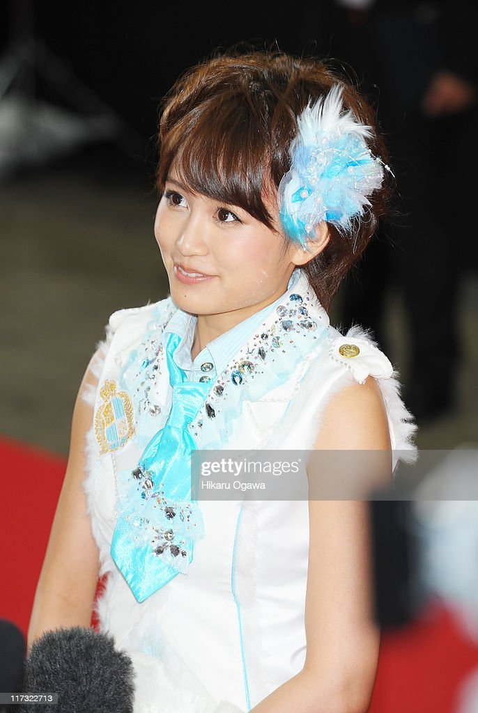 Atsuko Maeda of AKB48 walks on the red carpet during the MTV Video Music Aid Japan on June 25, 2011 in Chiba, Japan.