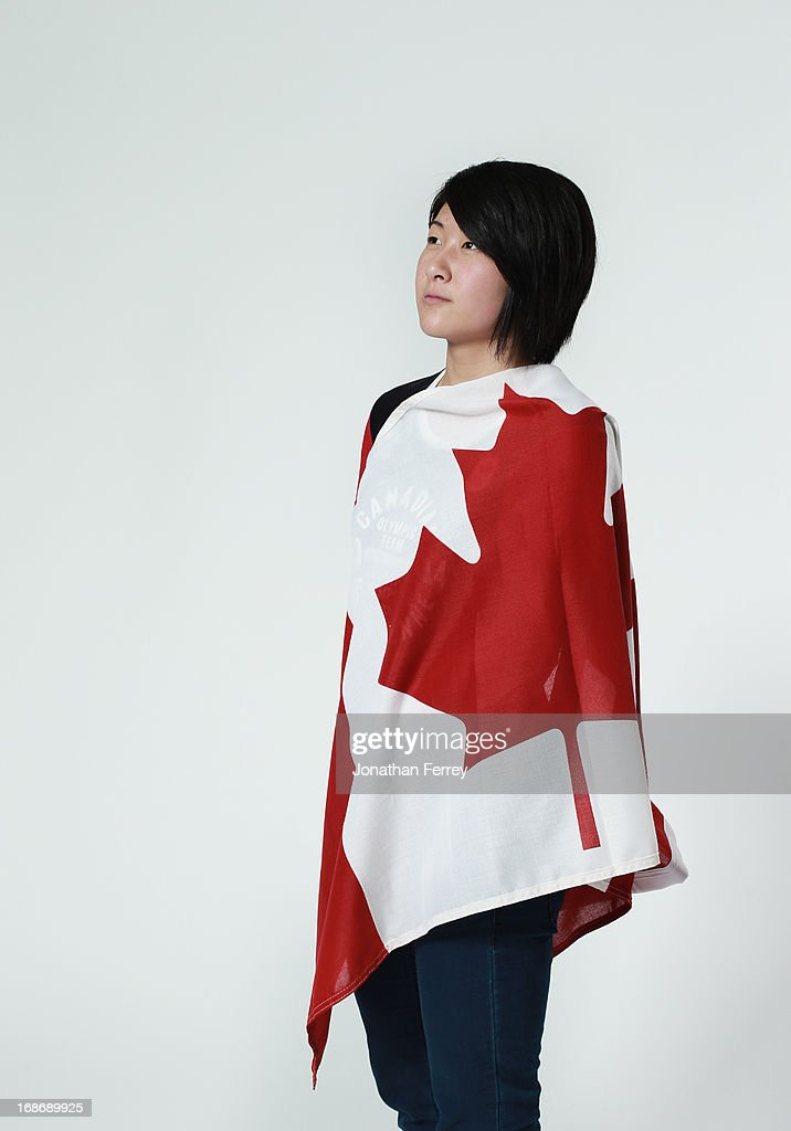 Atsuko Tanaka poses for a portrait during the Canadian Olympic Committee Portrait Shoot on May 13, 2013 in Vancouver, British Columbia, Canada.