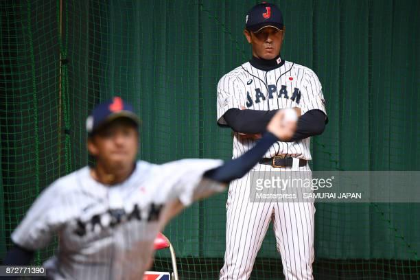 Atsunori Inaba of Samurai Japan during a Japan training session on November 11 2017 in Miyazaki Japan