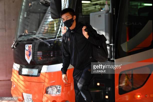 Atsushi KUROKAWA of Omiya Ardija is seen on arrival at the stadium prior to the J.League Meiji Yasuda J2 match between Omiya Ardija and Zweigen...