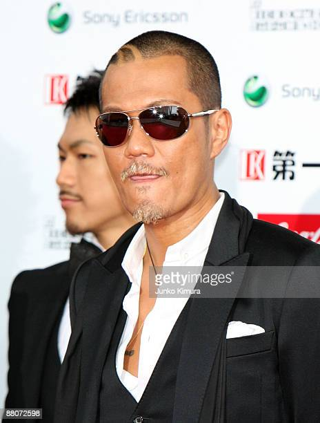 Atsushi of Exile poses on the red carpet during the MTV Video Music Awards Japan 2009 at Saitama Super Arena on May 30 2009 in Saitama Japan