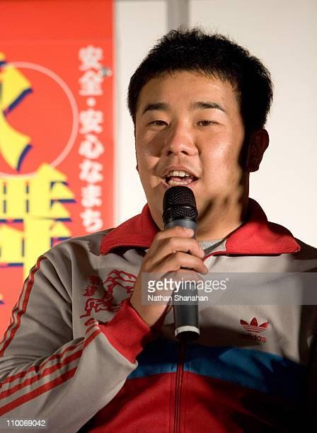 "Atsushi Tsutsumishita of Impulse during ""We Will Rock You"" Musical - Tokyo Kick-Off Event at Koma Stadium in Tokyo, Japan."