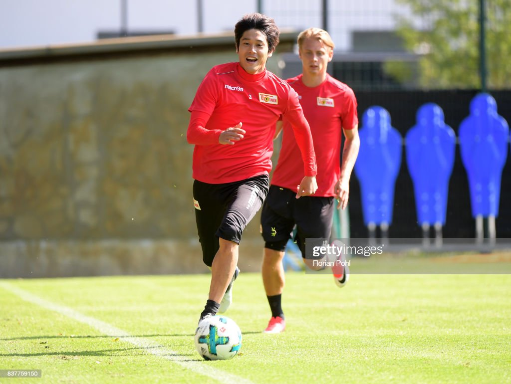 Atsuto Uchida of 1 FC Union Berlin during the Trainnigs on august 23, 2017 in Berlin, Germany.
