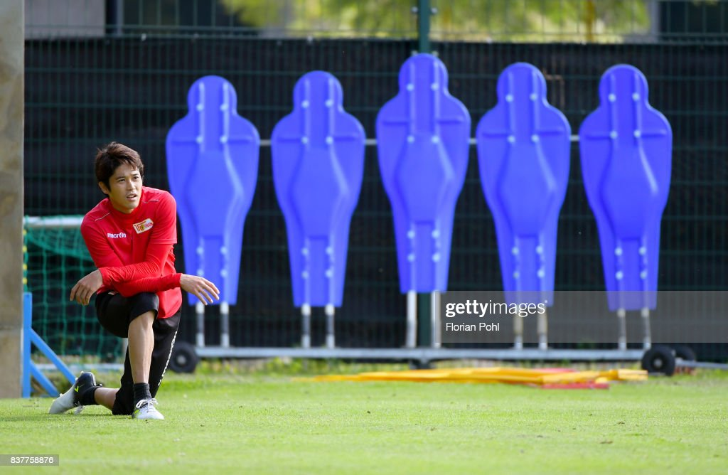 Atsuto Uchida of 1.FC Union Berlin during the Trainnigs on august 23, 2017 in Berlin, Germany.
