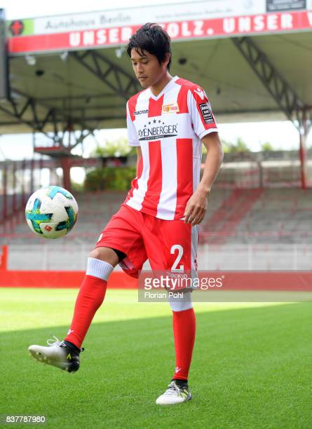 Atsuto Uchida of 1FC Union Berlin juggles during the presentation on august 23 2017 in Berlin Germany