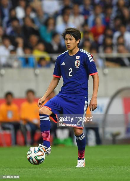 Atsuto Uchida of Japan in action during the Kirin Challenge Cup international friendly match between Japan and Cyprus at Saitama Stadium on May 27,...