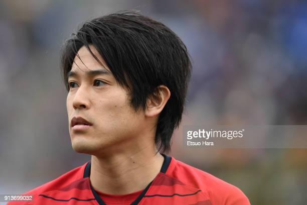 Atsuto Uchida of Kashima Antlers looks on during the preseason friendly match between Mito HollyHock and Kashima Antlers at K's Denki Stadium on...