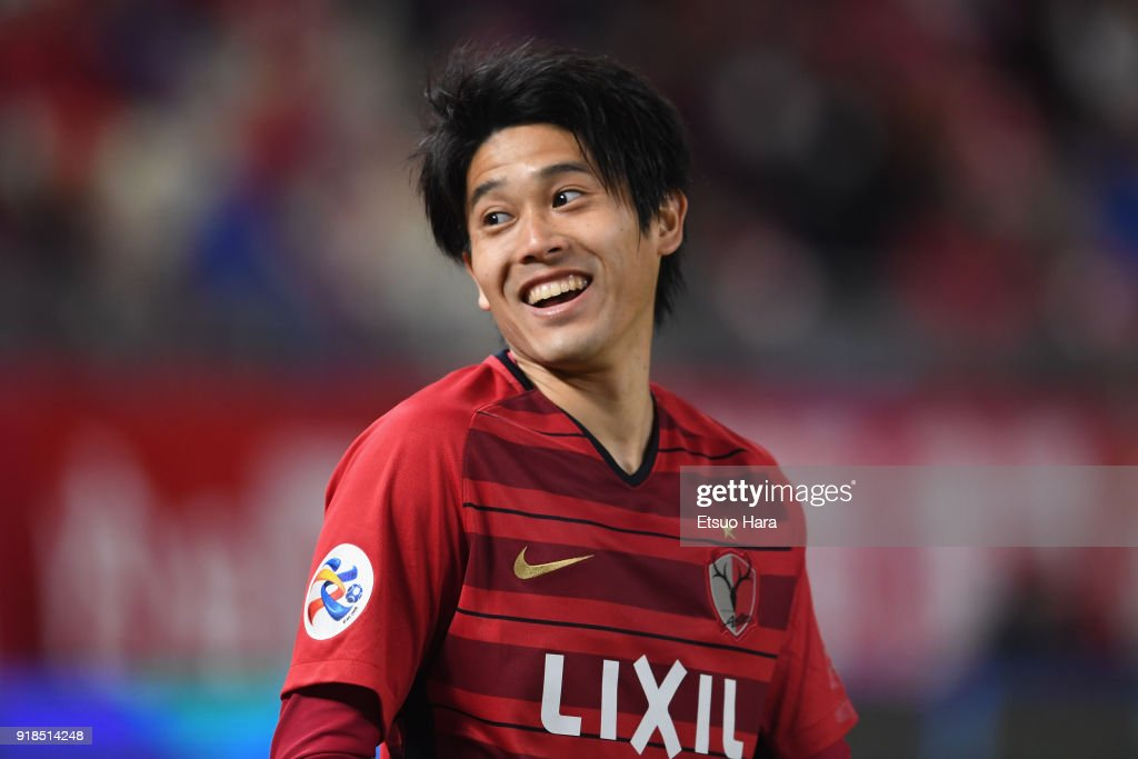 Atsuto Uchida of Kashima Antlers reacts during the AFC Champions League Group H match between Kashima Antlers and Shanghai Shenhua at Kashima Soccer Stadium on February 14, 2018 in Kashima, Ibaraki, Japan.