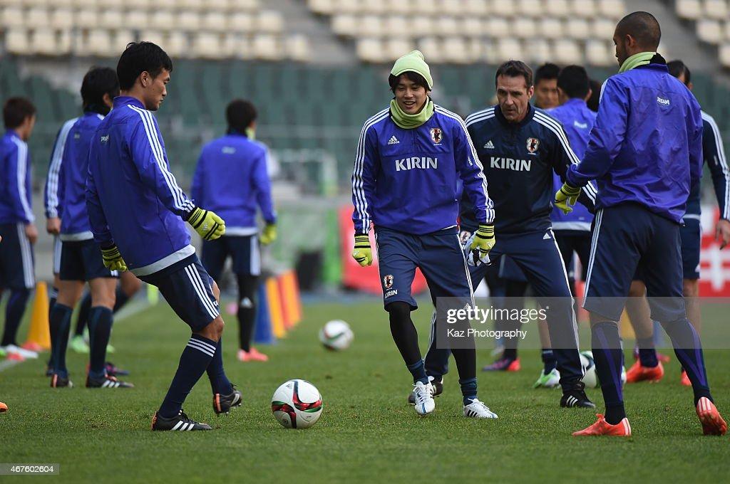 Japanese National Team Trains Ahead Of Match Against Tunisia : News Photo