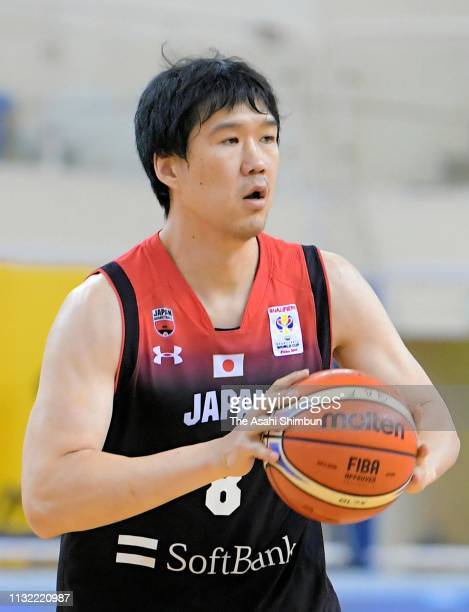 Atsuya Ota of Japan in action during the FIBA World Cup Asian Qualifier 2nd Round Group F match between Qatar and Japan on February 24 2019 in Doha...