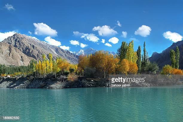attabad lake - hunza valley stock pictures, royalty-free photos & images