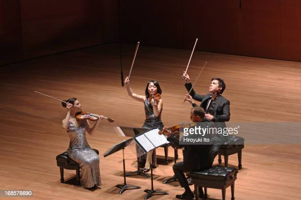 Attacca Quartet at Alice Tully Hall on Tuesday night, May 7, 2013.From left, Amy Schroeder, Keiko Tokunaga, Luke Fleming and Andrew Yee.
