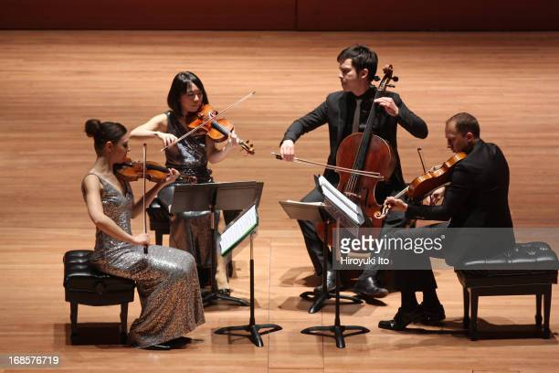 Attacca Quartet at Alice Tully Hall on Tuesday night May 7 2013From left Amy Schroeder Keiko Tokunaga Andrew Yee and Luke Fleming