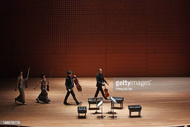 Attacca Quartet at Alice Tully Hall on Tuesday night, May 7, 2013.From left, Amy Schroeder, Keiko Tokunaga, Andrew Yee and Luke Fleming.