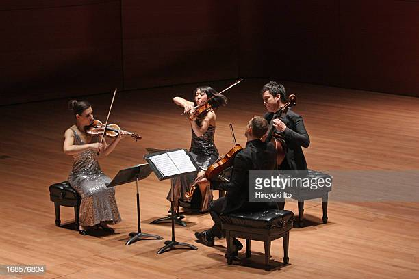 Attacca Quartet at Alice Tully Hall on Tuesday night May 7 2013From left Amy Schroeder Keiko Tokunaga Luke Fleming and Andrew Yee
