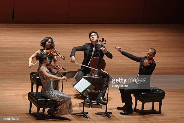 Attacca Quartet at Alice Tully Hall on Tuesday night, May 7, 2013.Clockwise from left, Amy Schroeder, Keiko Tokunaga, Andrew Yee and Luke Fleming.