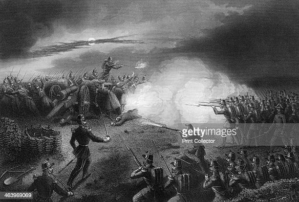 Attack and repulse of the Russians before Sebastopol Crimean War Engraving from England's Battles by Sea and Land Volume V Russia and Turkey