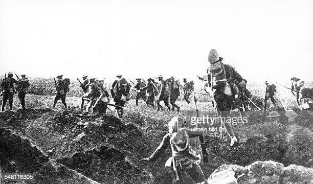 Attack of the 1st US Division on German forces on the Vesle and Marne river