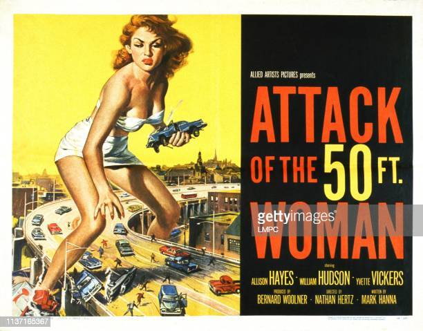 Attack Of The 50 Foot Woman lobbycard Allison Hayes 1958