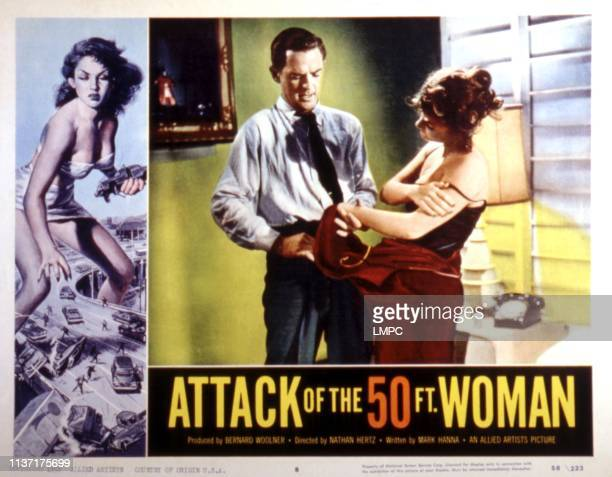 Attack Of The 50 Foot Woman lobbycard William Hudson Allison Hayes 1958