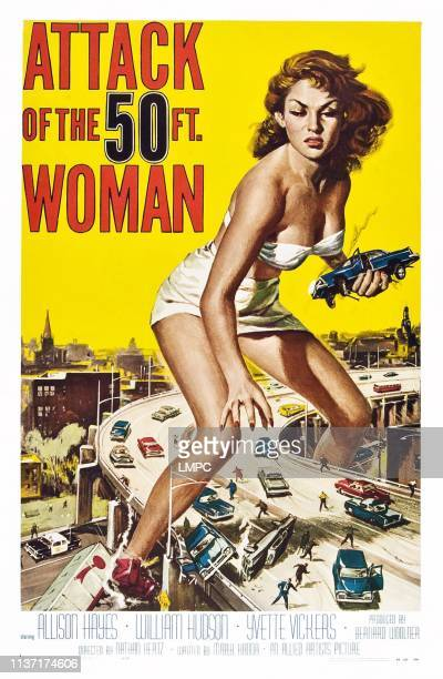 Attack Of The 50 Foot Woman poster Alison Hayes 1958
