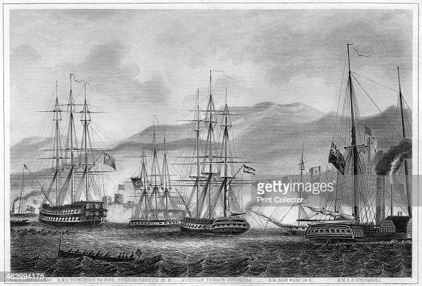 Attack on Sidon by Commodore Charles Napier 26 September 1840 British Turkish and Austrian ships bombarding Egyptian positions in the Lebanese port...