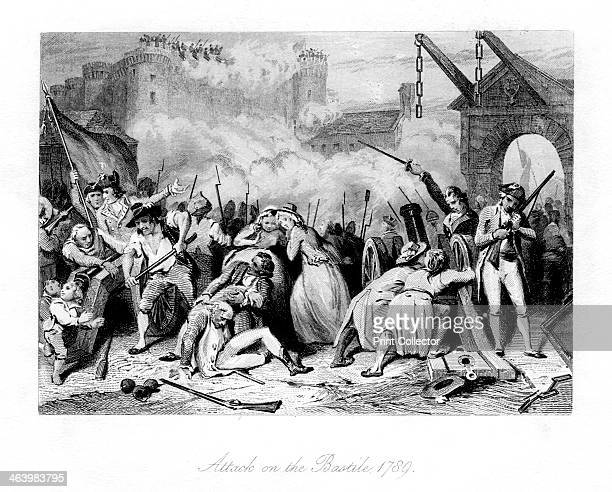 'Attack on the Bastille 1789' The Bastille was a prison in Paris known formally as Bastille SaintAntoine On the morning of 14 July 1789 a crowd...