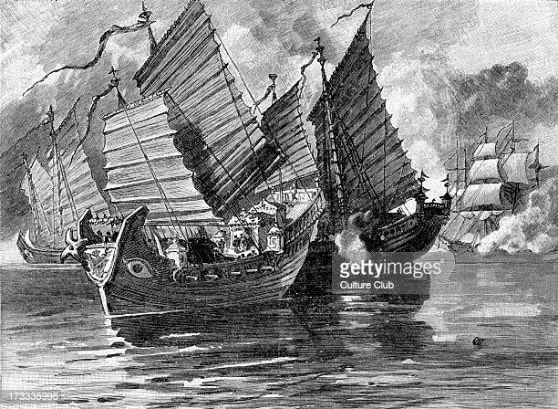 Attack on the Chinese Junks 1841 During First AngloChinese War Also known as First Opium War