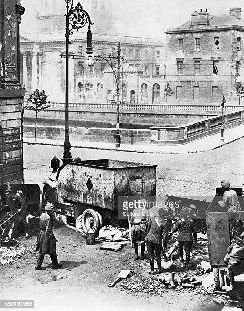 Attack on the Four Courts beginning of the Battle of Dublin of a week of street battles beginning the Irish Civil War 1922