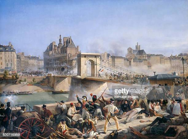 Attack on the Hotel de Ville and Combat on the Pont dArcole July 28 1830 Found in the collection of Musée de l'Histoire de France Château de...