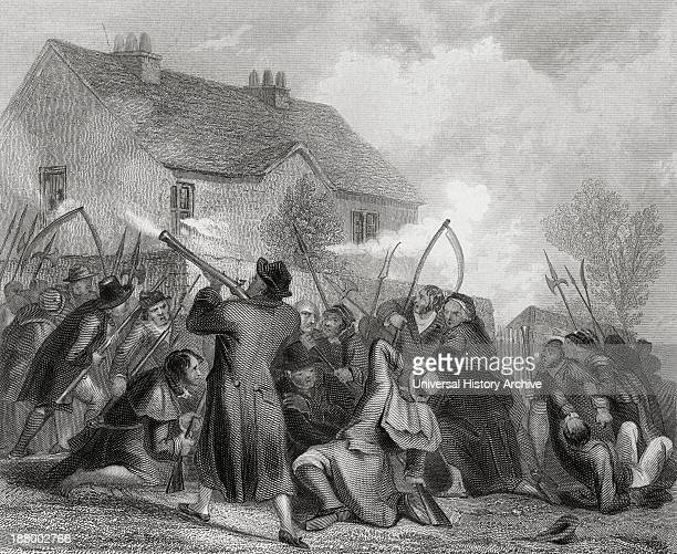 Attack On The Police By The People Under Smith O'brien In Ballingarry County Tipperary Ireland In 1848 William Smith O'brien 1803 To 1864 Irish...