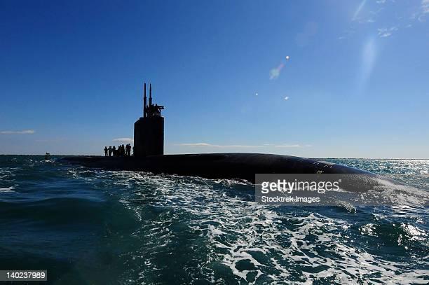 attack submarine uss scranton pulls into augusta bay. - submarine stock photos and pictures