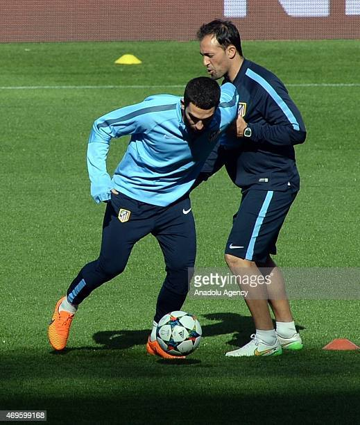 Attacking midfielder Arda Turan of Club Atletico de Madrid seen during training session ahead of the UEFA Champions League Quarter Final First Leg...
