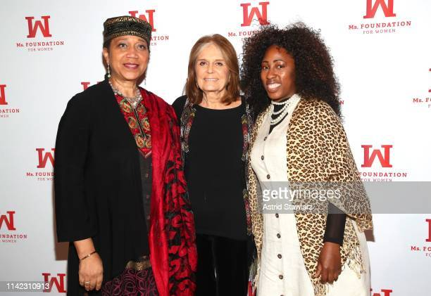 Attallah Shabazz Founding Mother Ms Foundation Gloria Steinem and Naiyma Pleasant attend the Ms Foundation For Women's Annual Gloria Awards at...