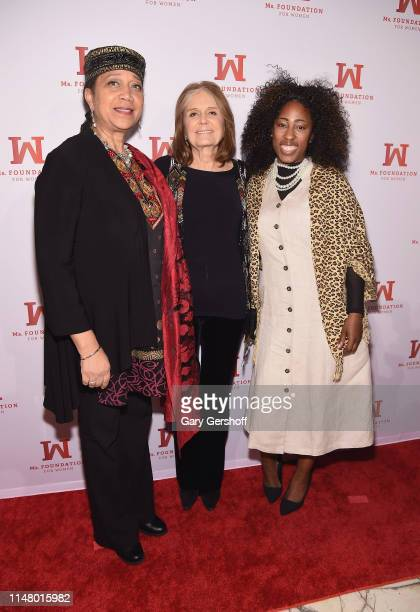 Attallah Shabazz Founding Mother Ms Foundation Gloria Steinem and Naiyma Pleasant attend the 'Gloria Awards Salute To Women Of Vision' at Capitale on...