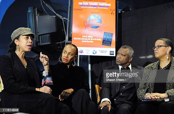 Attallah Shabazz Susan L Taylor Butch Lewis and Terrie Williams attend a panel discussion of Williams' new book Black Pain It Just Looks Like We're...