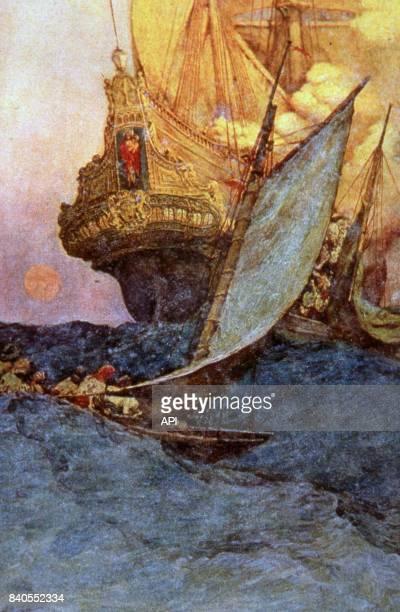 Attaque d'un galion espagnol par des pirates